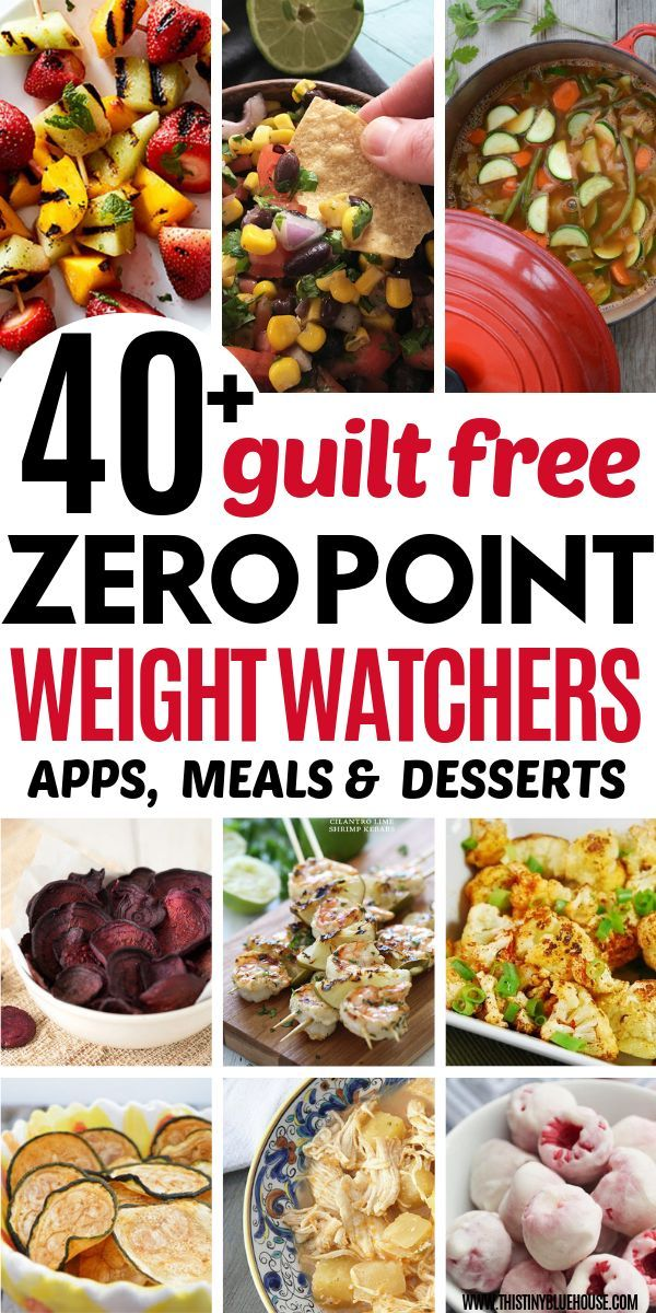 40+ Zero Point Weight Watchers Meals and Snacks