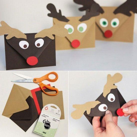 Postales y sobres de Navidad | Postales de navidad, Manualidades ...