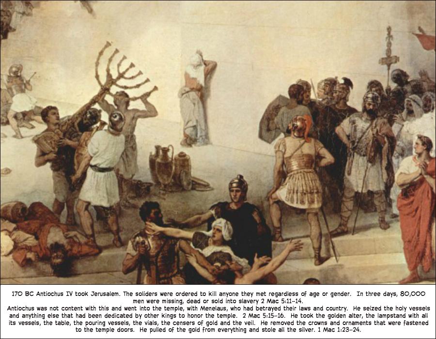 Antiochus IV takes Jerusalem | Bible image, Biblical art, Art base