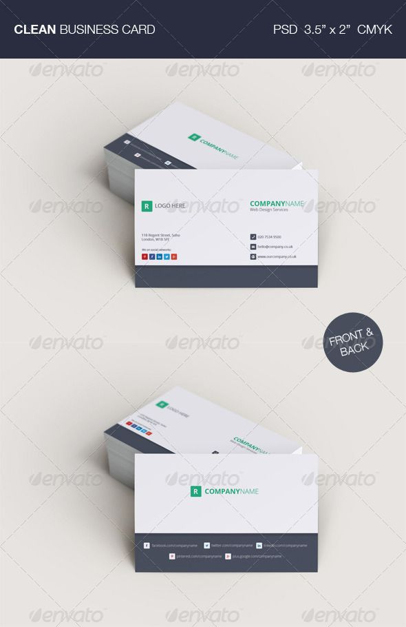 Business Card Graphicriver Features Photoshop Psd File Front