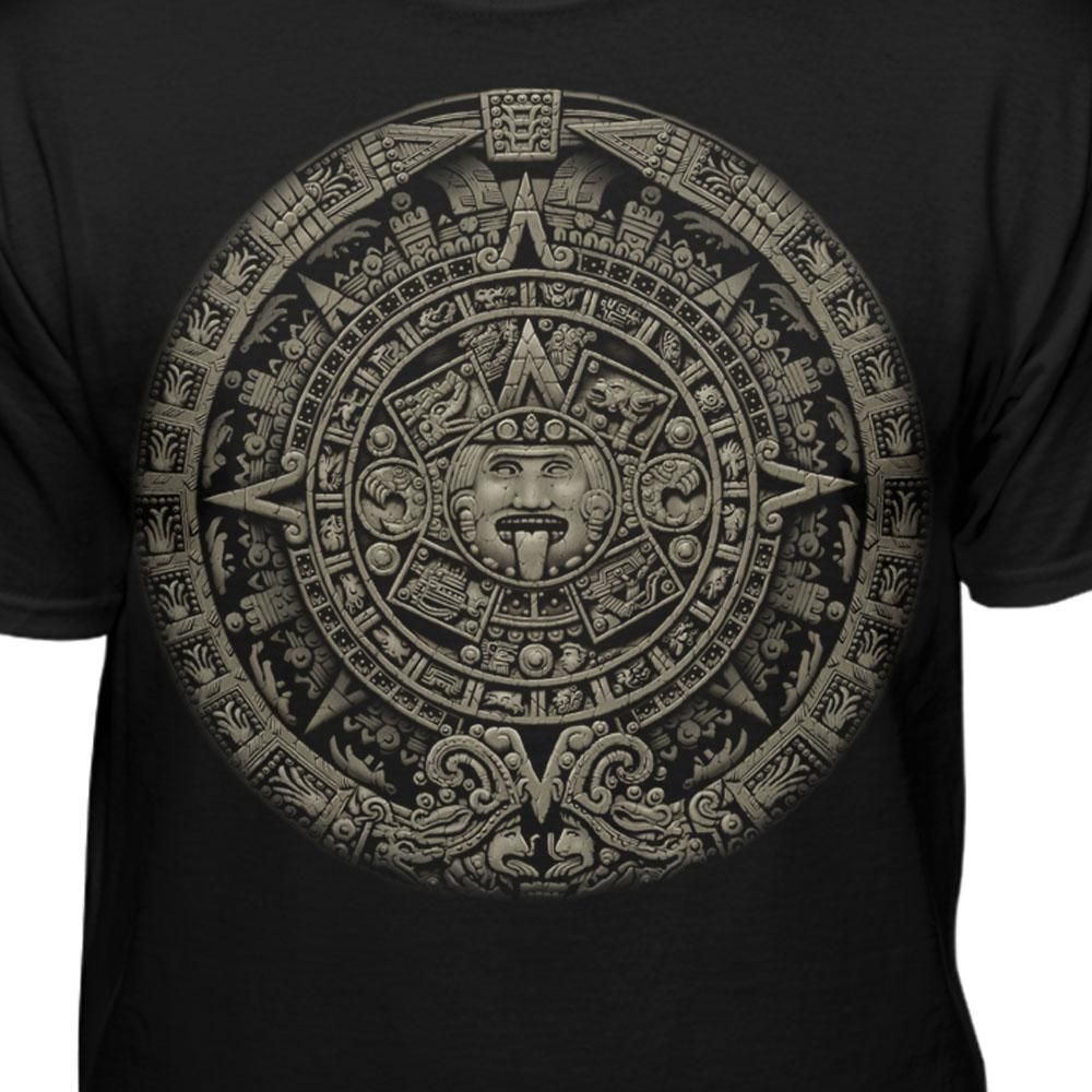 5bbceaea0 Aztec Calendar T-shirt in 2019 | Aztec calendar | Aztec calendar ...