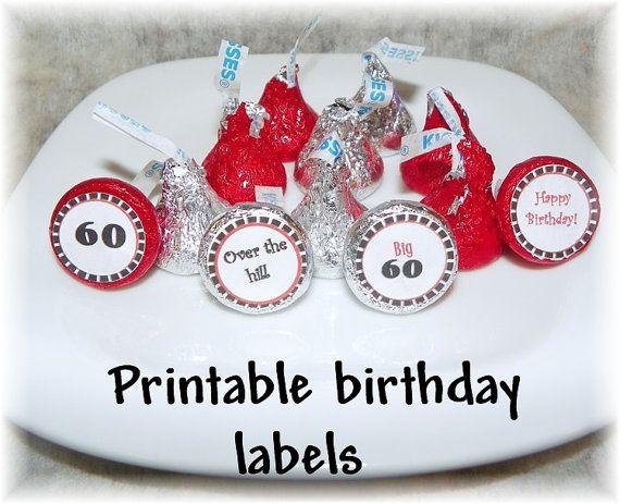 Happy Birthday Golf Hershey Kiss Candy Stickers Hershey t