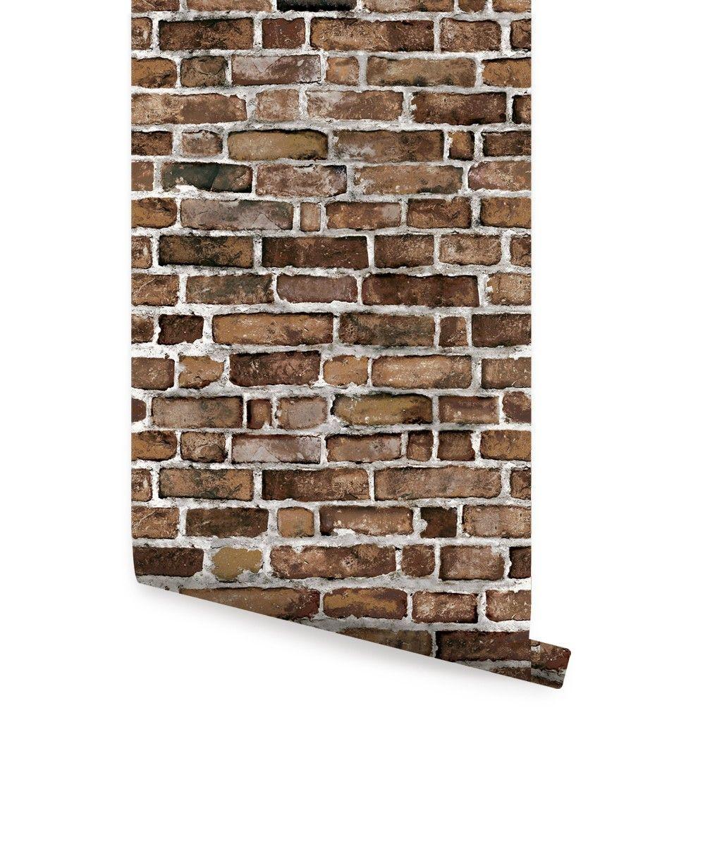 Brick Wallpaper - Peel and Stick | Brick wallpaper, Brick ...