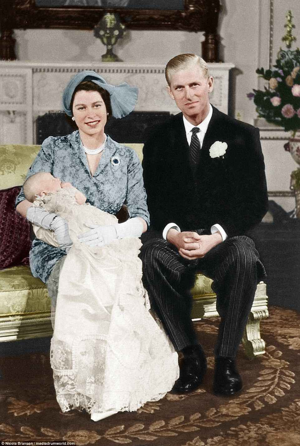 Incredible pictures of the Royal Family in colour going