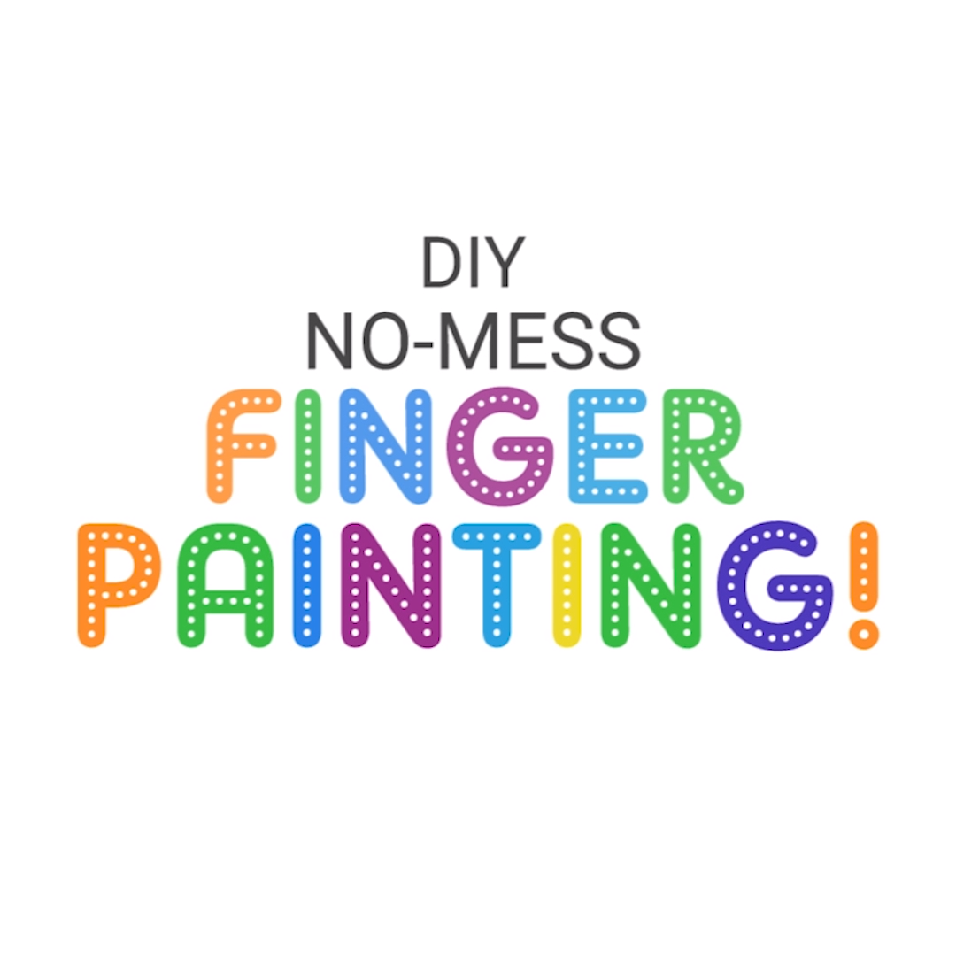 A great way to have your little ones finger paint without ...