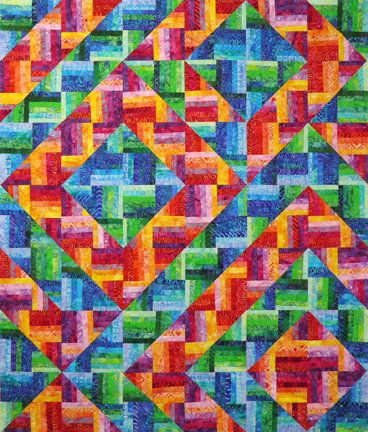 Rockin Rail Fence Quilt Kit Pattern By A Quilters Dream Rockin