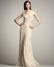Elie Saab Beaded Tulle Gown 7990.00