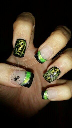 Halloween Nails 2014uv Gel Inspired By Online Nail Art Nail