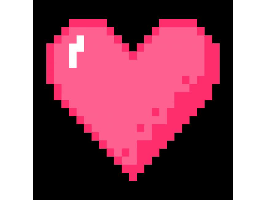 Pixel Art Heart Stickers Png Transparent Icon Freepngimage Com