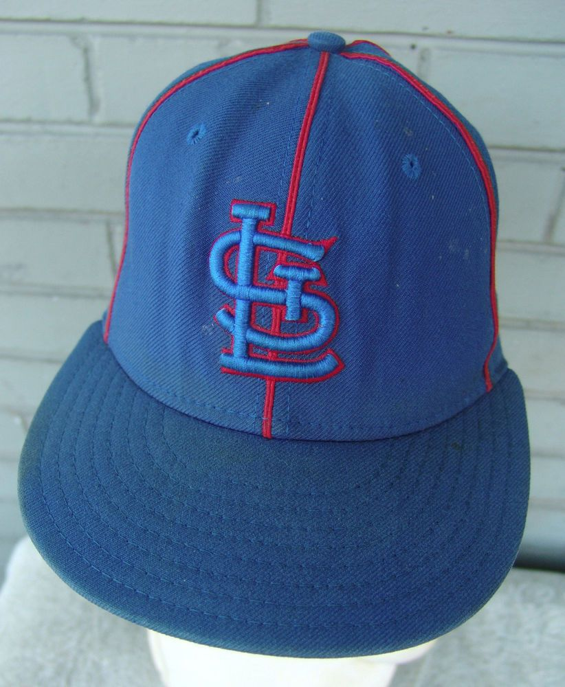 Beat Up Dirty Old St. Louis Cardinals Blue 7 1 4 New Era Fitted MLB  Baseball Hat  BaseballCap 1be6edb39c53