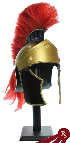 05e2400f413 Trojan Roman Helmet with Red Plume. Trojan Roman Helmet with Red Plume Spartan  Costume