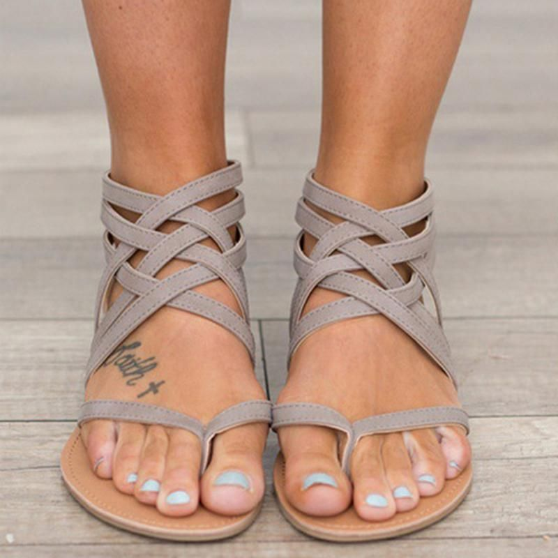 Summer Women sandals Gladiator Casual Women Shoes 2018 Fashion Flat Heel  Sandals Ladies Open Toes Flip Flops Beach Women Shoes. Yesterday s price   US  24.30 ... ab502bbbfb2