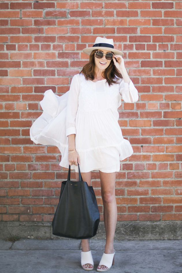 white tunic dress.
