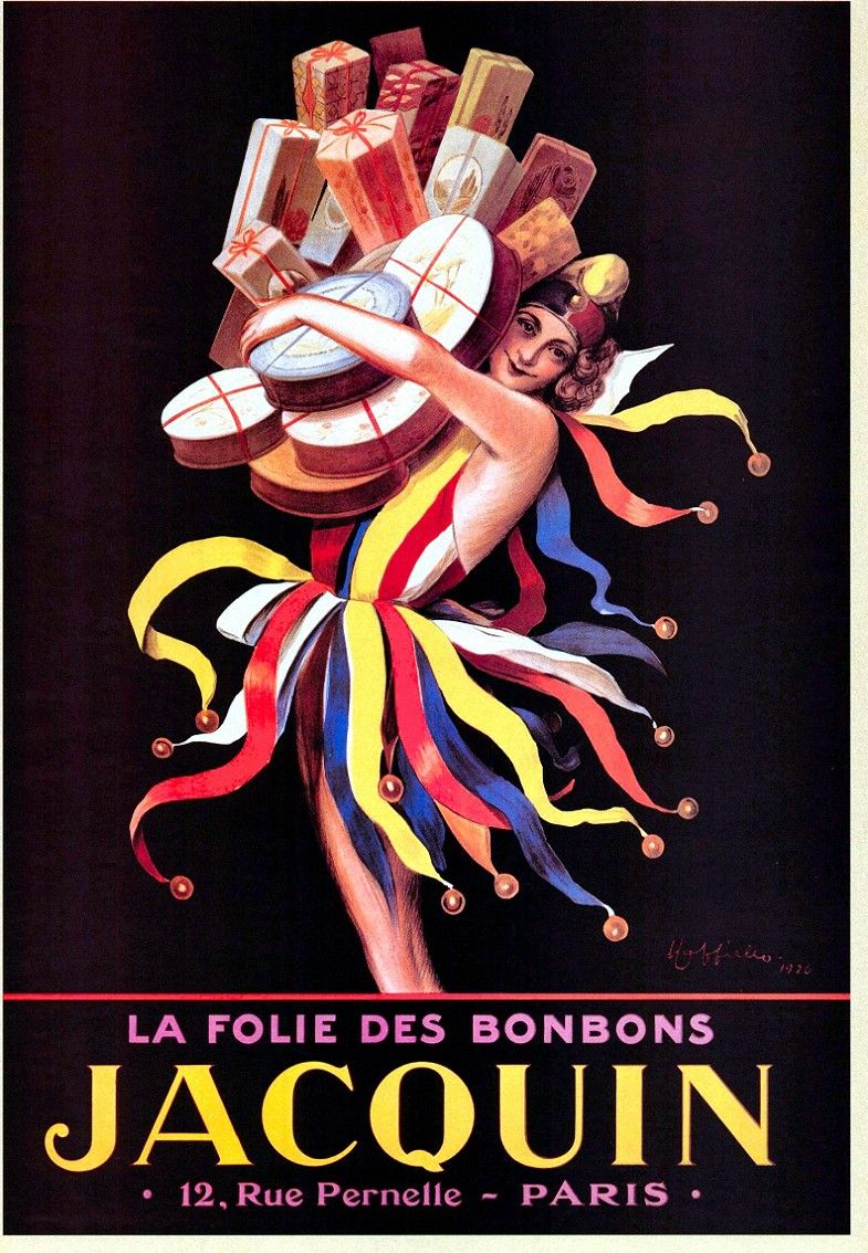 Jacquin candy advertising poster by Cappielo