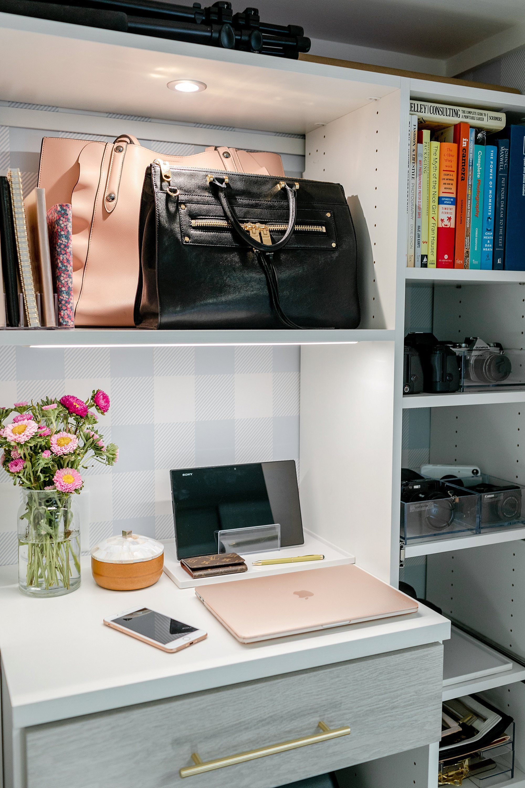 Final Reveal Of Office Closet Reveal Belonging To Photographer Blogger  Diana Elizabeth In Phoenix Arizona.