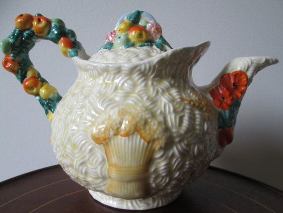 Teapot Clarice Cliff Celtic Harvest Vintage by MenagerieMall