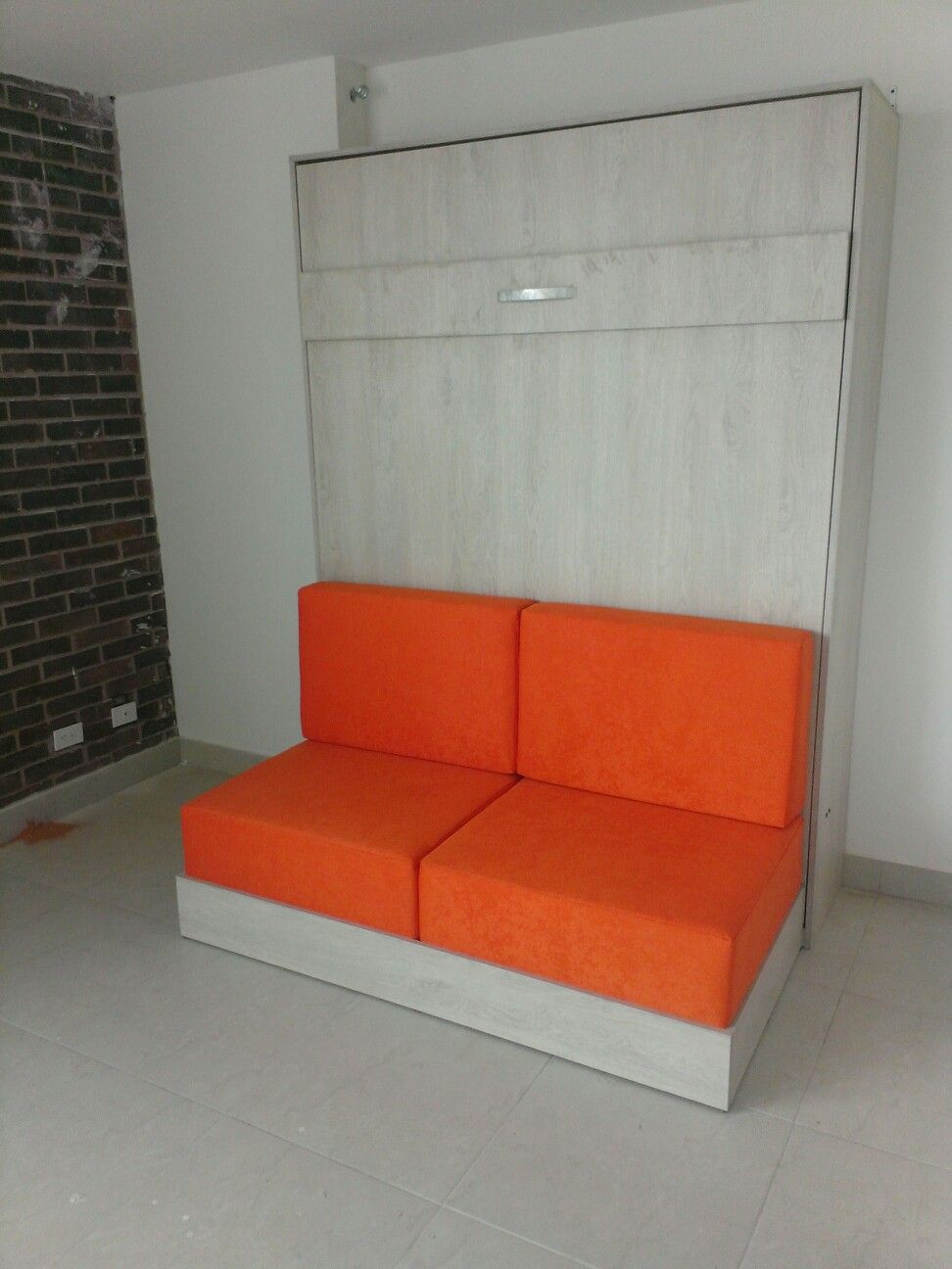 cama abatible vertical con sofa de 2 puestos, muebles funcionales ...