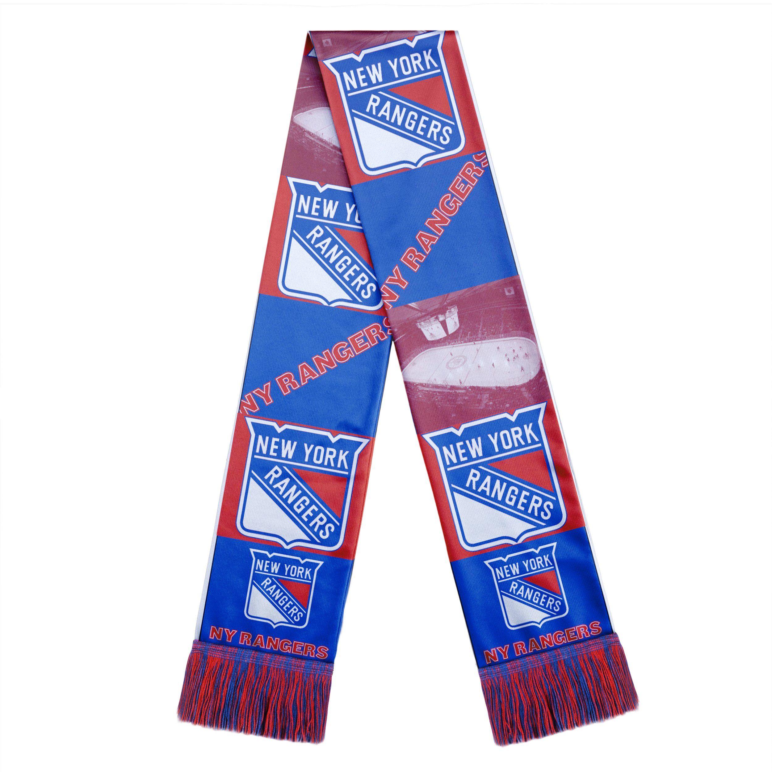 New York Rangers Scarf Printed Bar Design In 2020 New York Rangers Ranger New York