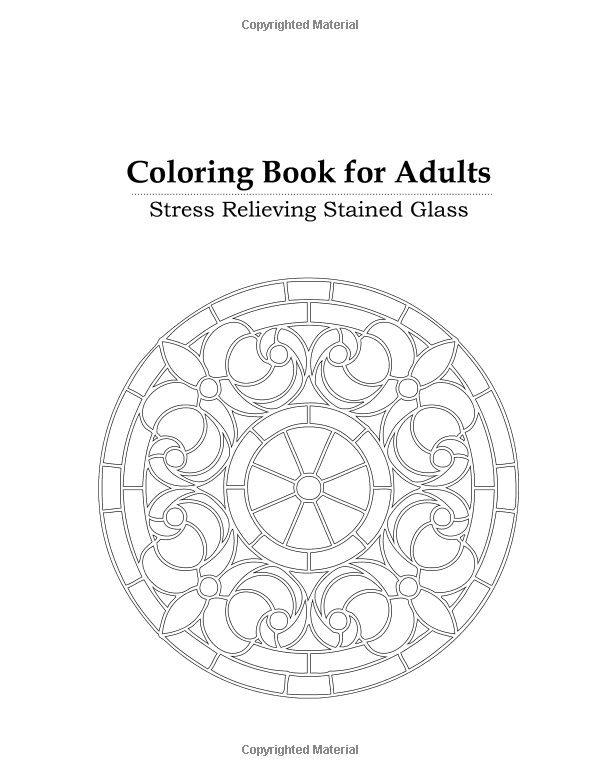 Coloring Book For Adults Stress Relieving Stained Glass Blue Star 9781941325186