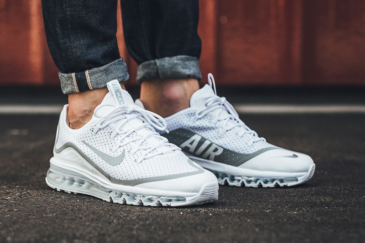 nike air max white metallic silver