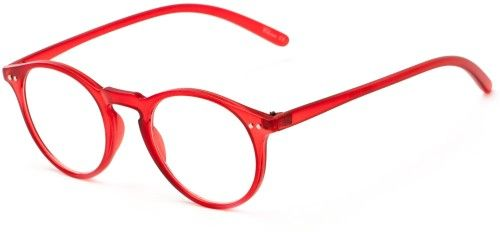 c175bacbe1 Readers.com The Mint +1.50 Red Oversized Trendy   Colorful Retro Round  Cheater Glasses Reading Glasses
