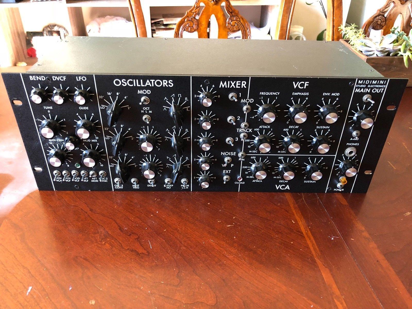 Studio Electronics Midimini Midimoog Analog Synth Minimoog Rack Mount Analog Synth Electronics Analog