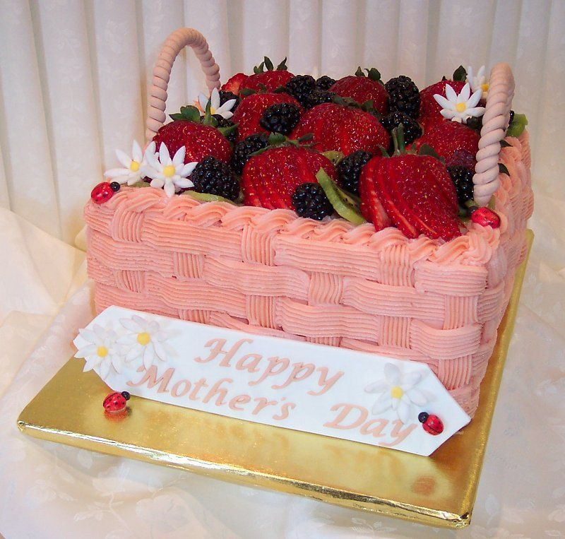 Cake With Fruit Names : - Basketweave cake with fresh strawberries, kiwi, and ...