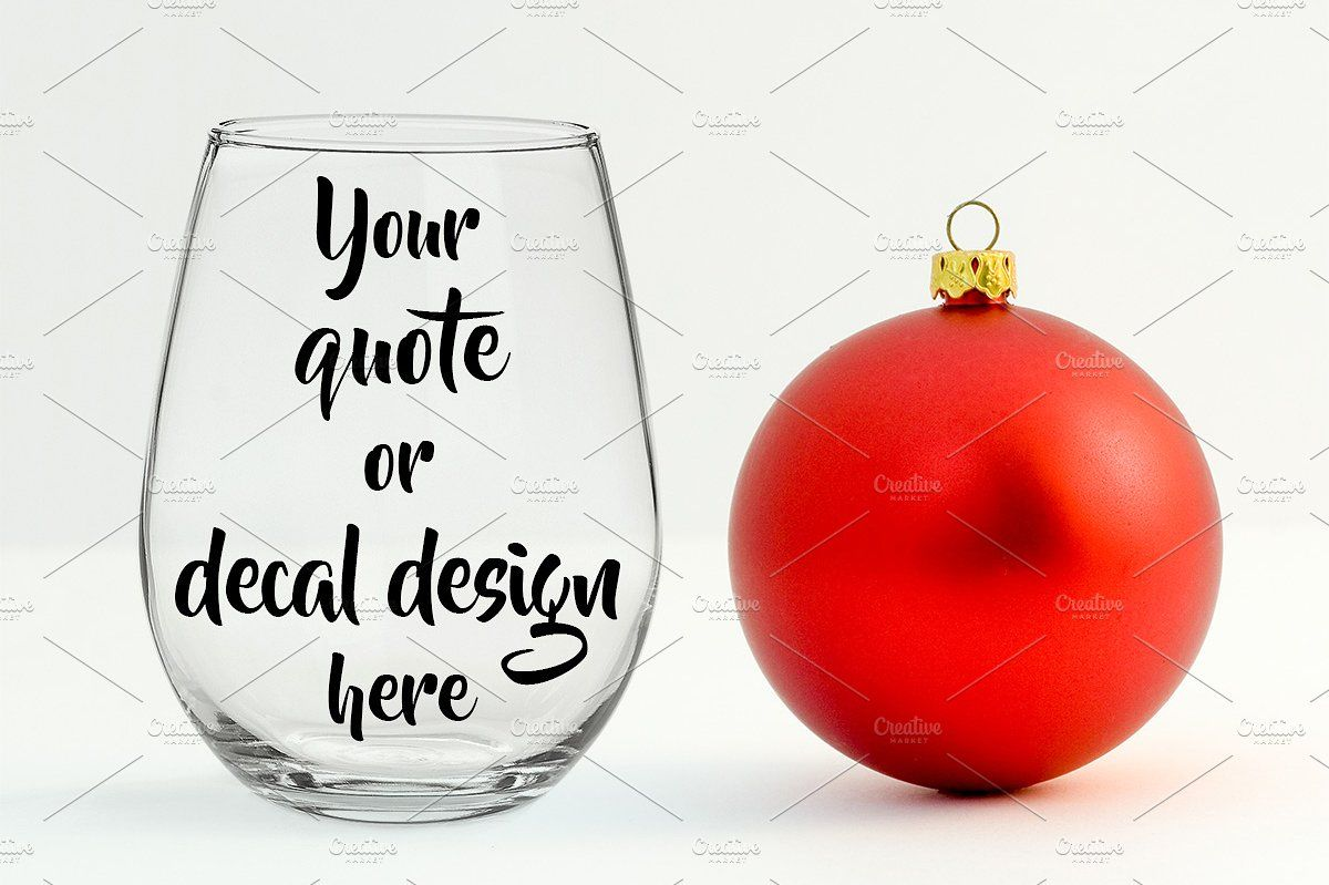 Christmas Styled Wine Glass Mockup Design Text Size Minimum Christmas Fashion Wine Glass Glass