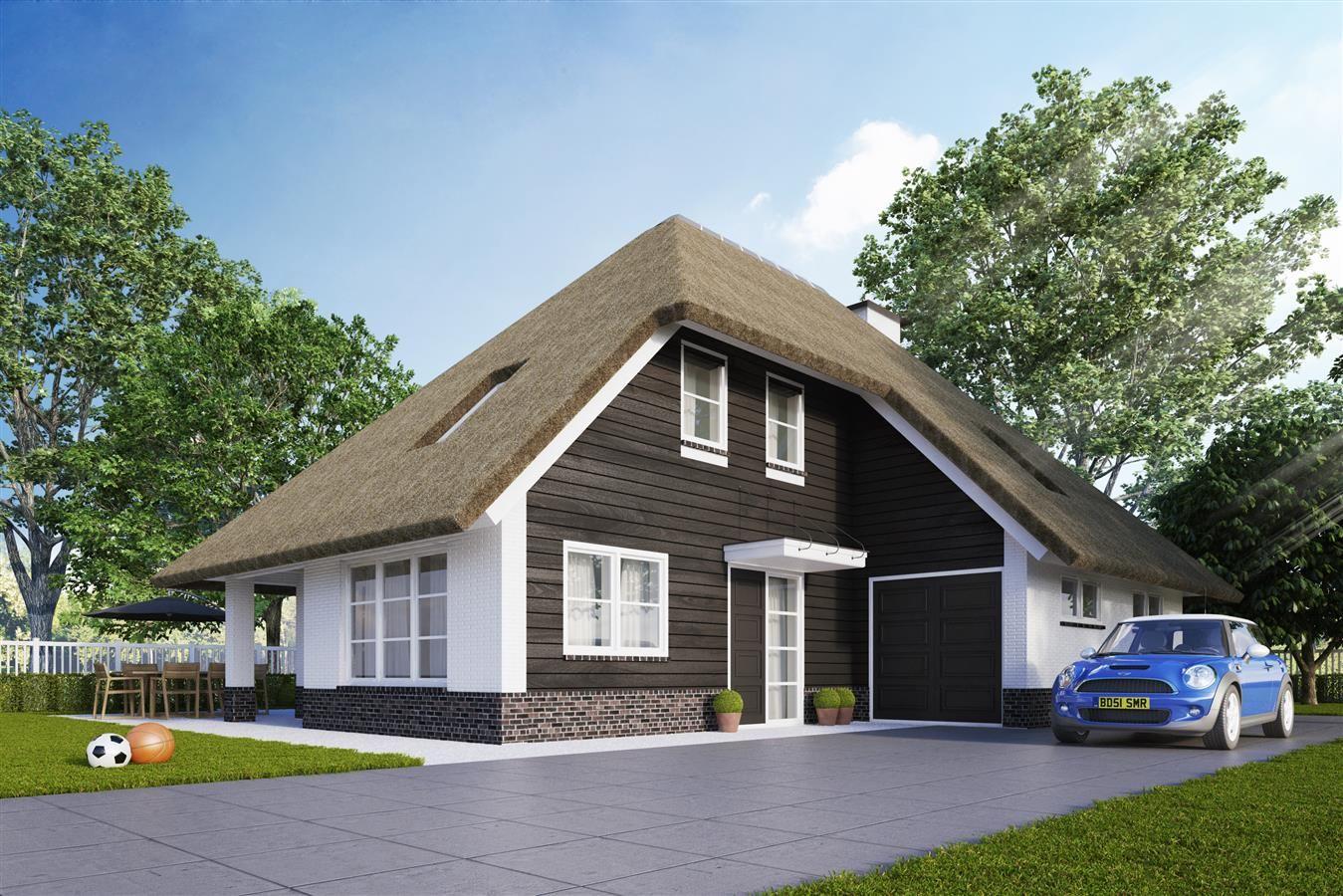 Landelijke huizen moderne met rieten kap google zoeken for Huizen architectuur
