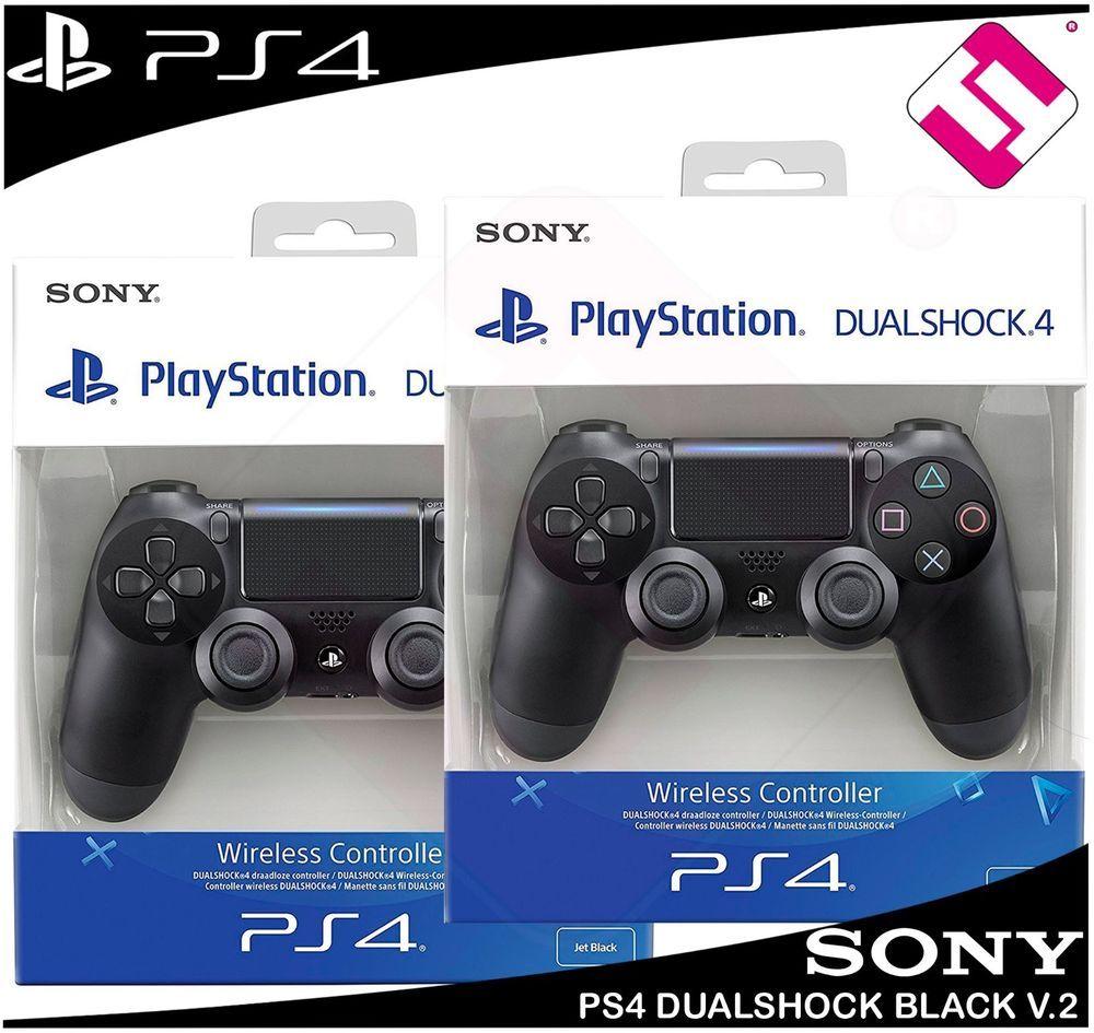 2 Mandos Ps4 Dualshock Color Negro V2 Playstation 4 Precintado Nuevo Ps Slim New 500gb Fw 505 Oferta Sony Mando
