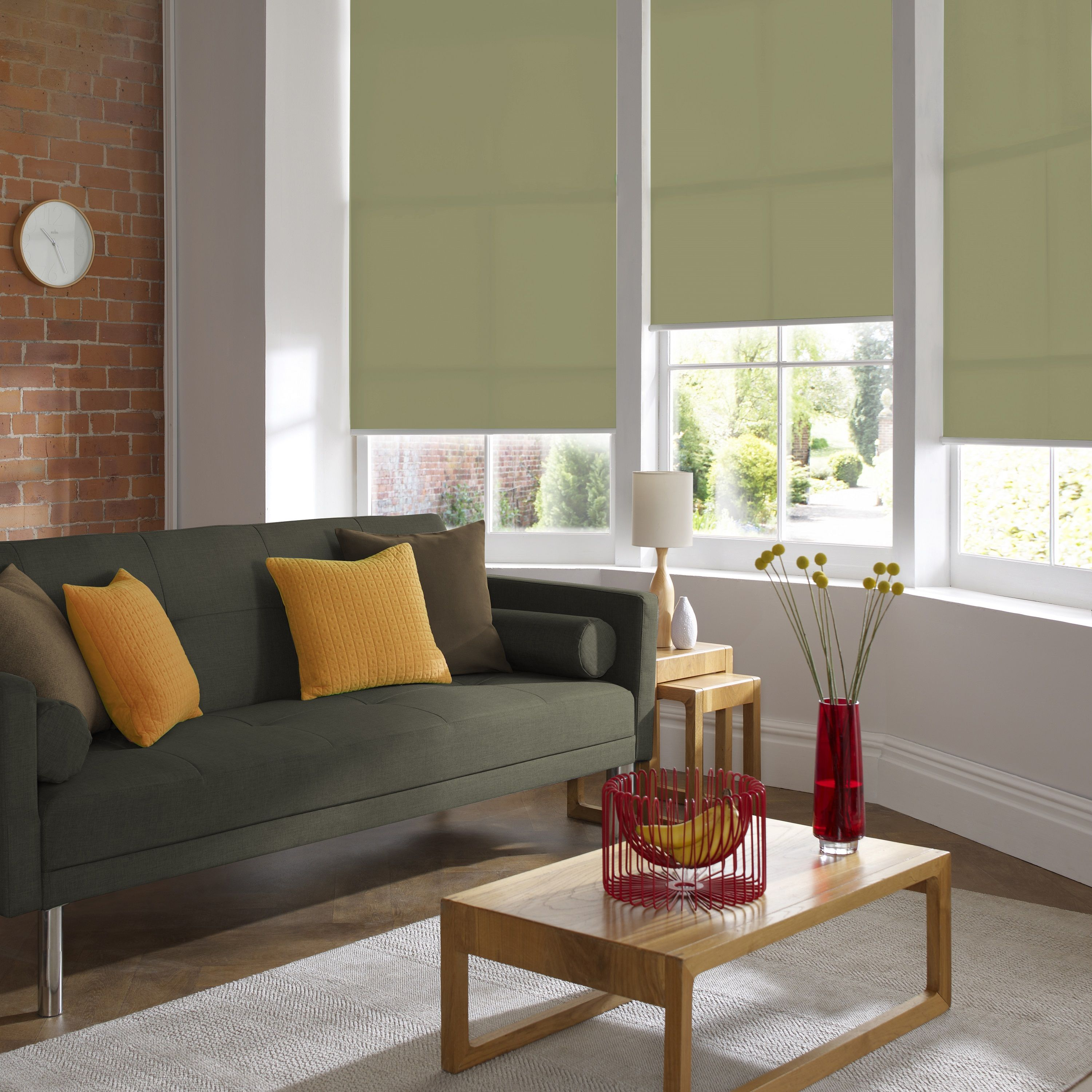 Palette Green Living Room blinds. In its softer forms, green is a ...
