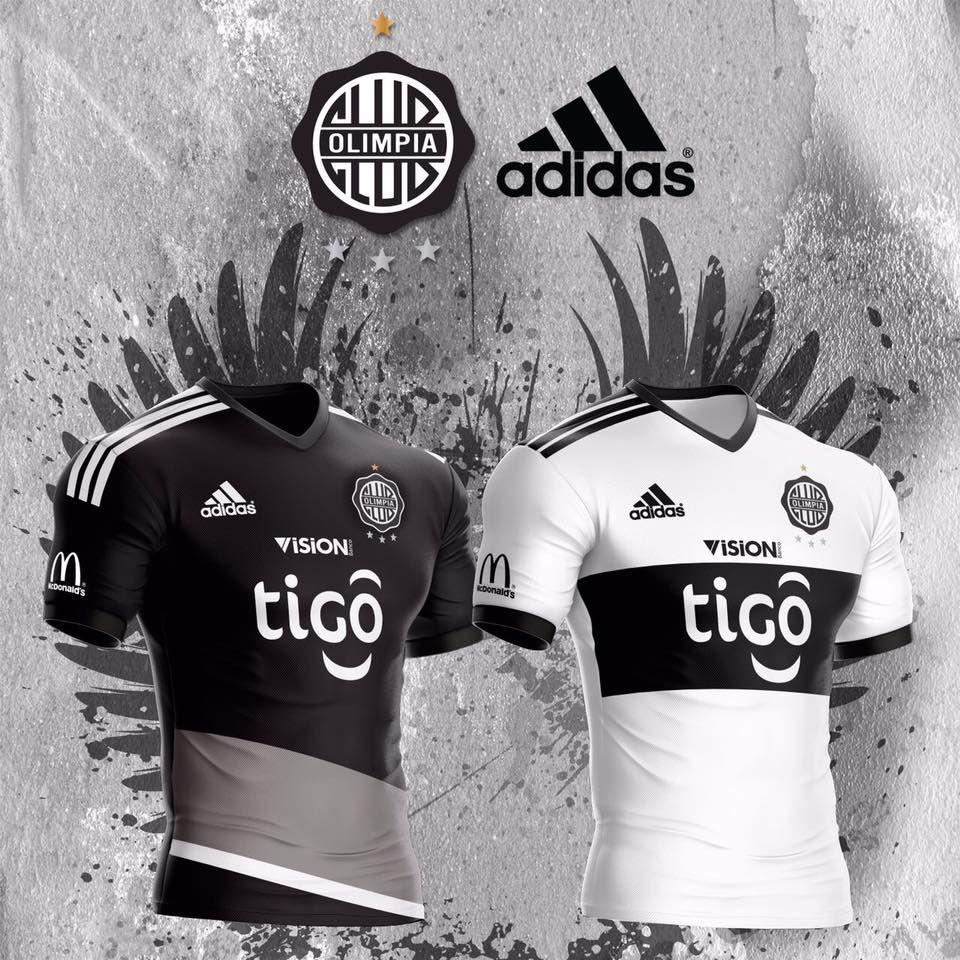 a2999cf2bb9d5 Camisas do Club Olimpia 2017 Adidas