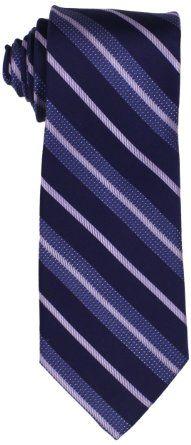 Amazon.com: Michael Kors Men's Spinal Stripe Necktie, Navy, X-Long: Clothing