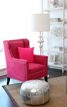 Olimpic Village Condo Eclectic Living Room Pink Accent Chair Eclectic Living Room Living Room Orange