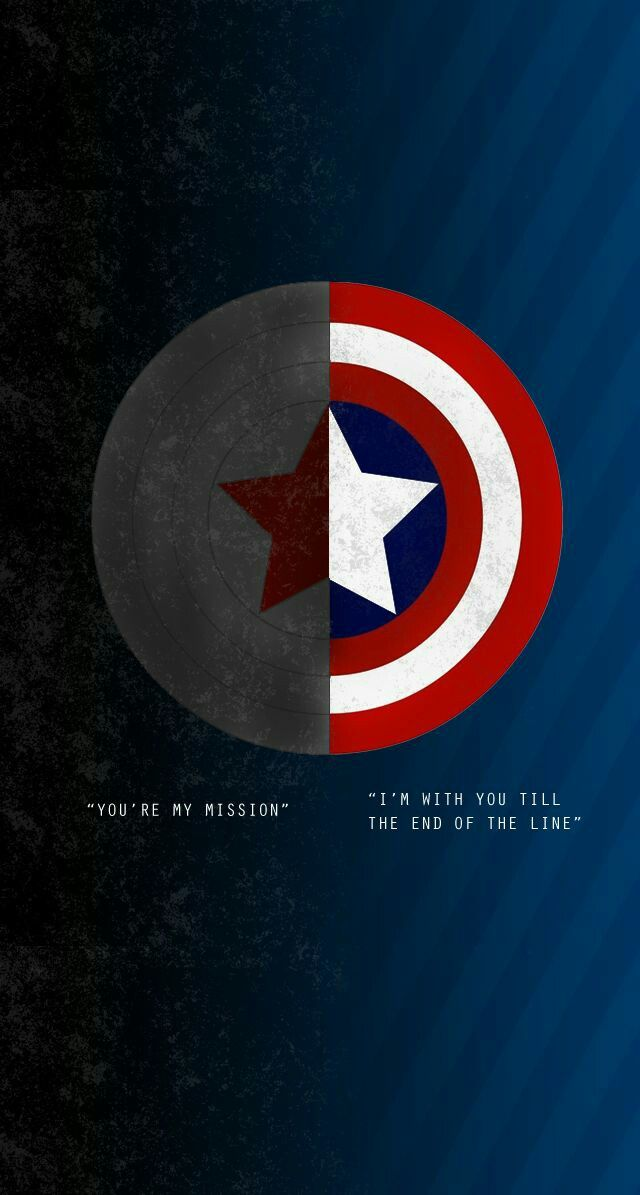 You Re My Mission I M With You Till The End Of The Line Captain America Shield Wallpaper Marvel Wallpaper Captain America Wallpaper