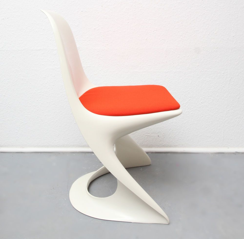 Super 70er Stuhl Orange Casala Von Alexander Begge Dispo 6 Luminaire Orange
