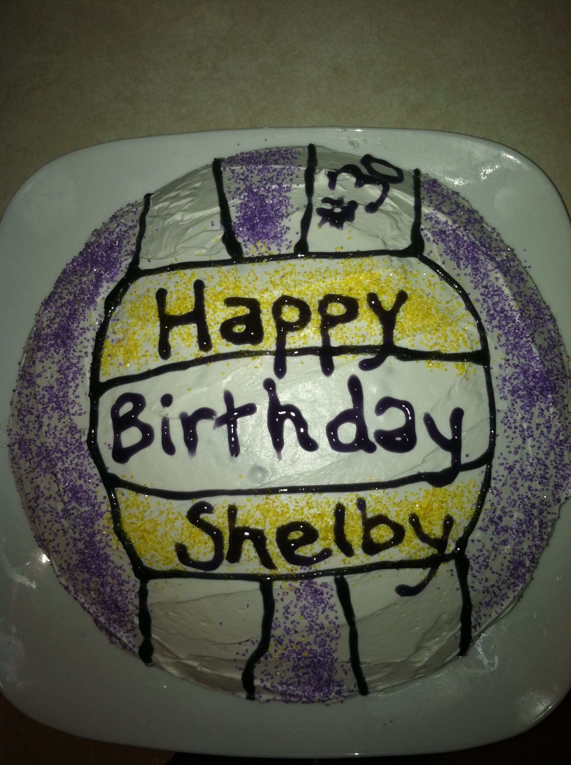 Simple Volleyball Cake Design Volleyball Cakes Cake Cake Design