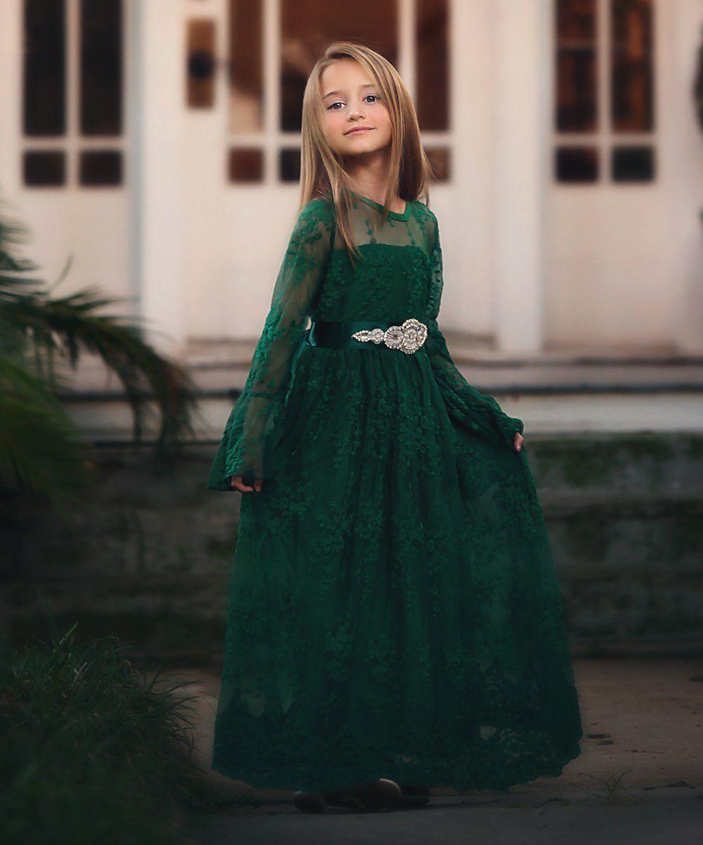 Emerald laceoverlay maggie dress sash toddler girls