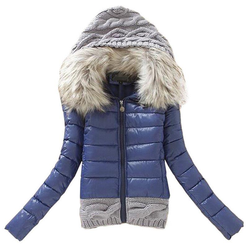 femmes d 39 hiver manteau coton rembourr veste courte. Black Bedroom Furniture Sets. Home Design Ideas