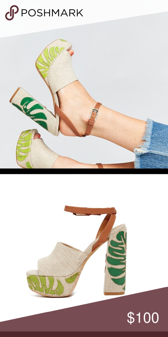 2eb0089b41ce Dolce Vita 7.5 Lando Platform Ankle Wrap Sandals Neutral canvas platform  chunky heeled ankle wrap sandals