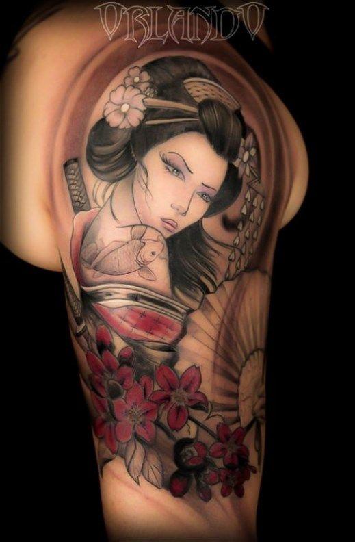 disegno geisha per tatuaggio - Cerca con Google | Tattoo