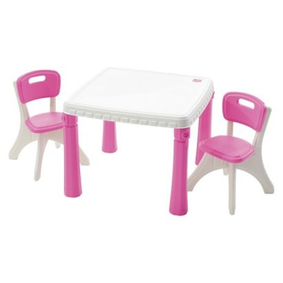 Step 2 Lifestyle Kitchen Table And Chairs Pink Opens In A New