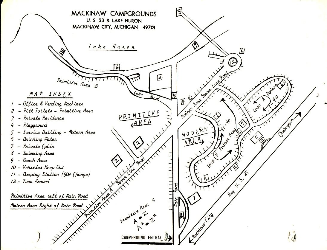 Photo Of An Early Layout Mackinaw Campground Later Known As Mill Creek Camping