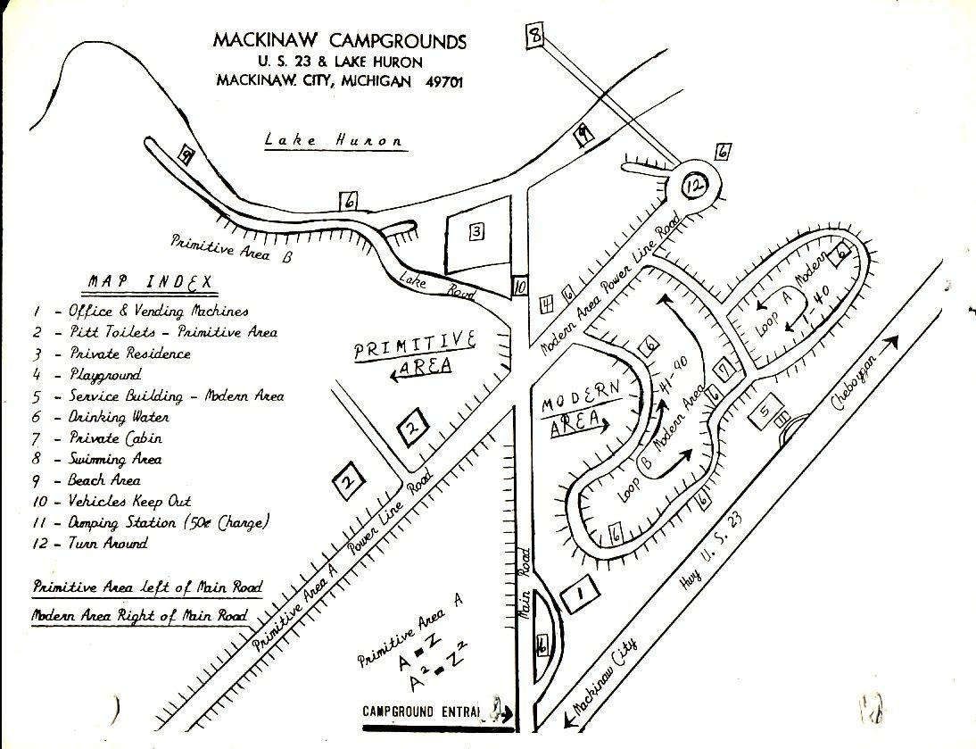Campground History Mackinaw Campground Camping
