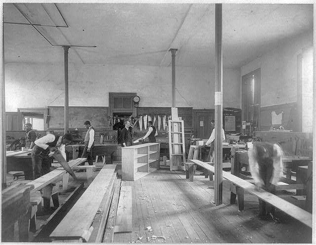 Howard Univ Washington D C Ca 1900 Class In Carpentry Shop Carpentry Classes Carpentry Long Time Ago