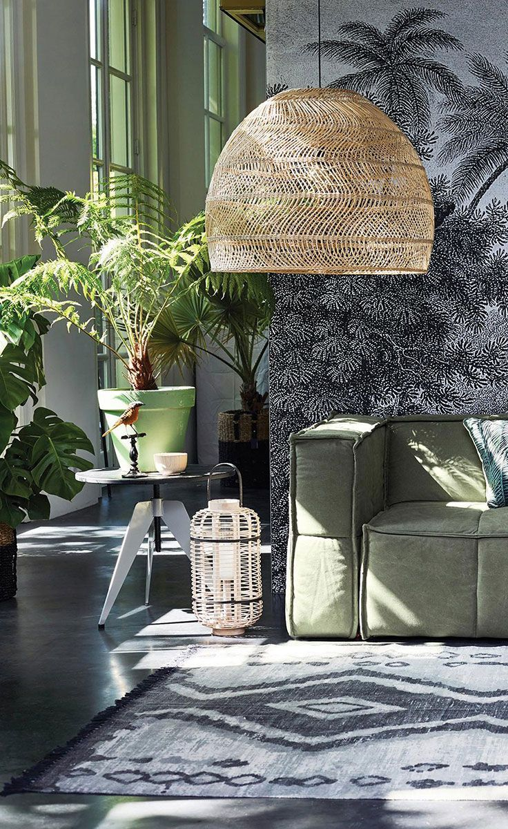 In een botanisch interieur kun je helemaal los gaan met natuurlijke ...