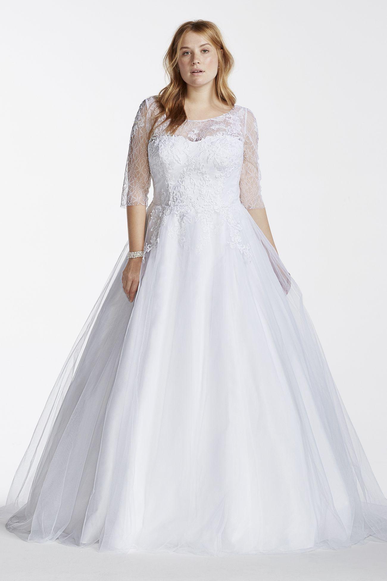 9WG3742 Davids bridal 599 Wedding dresses, Plus size