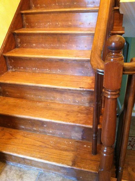 reconditioning or refinishing wood staircase, foyer, painting, stairs, woodworking projects