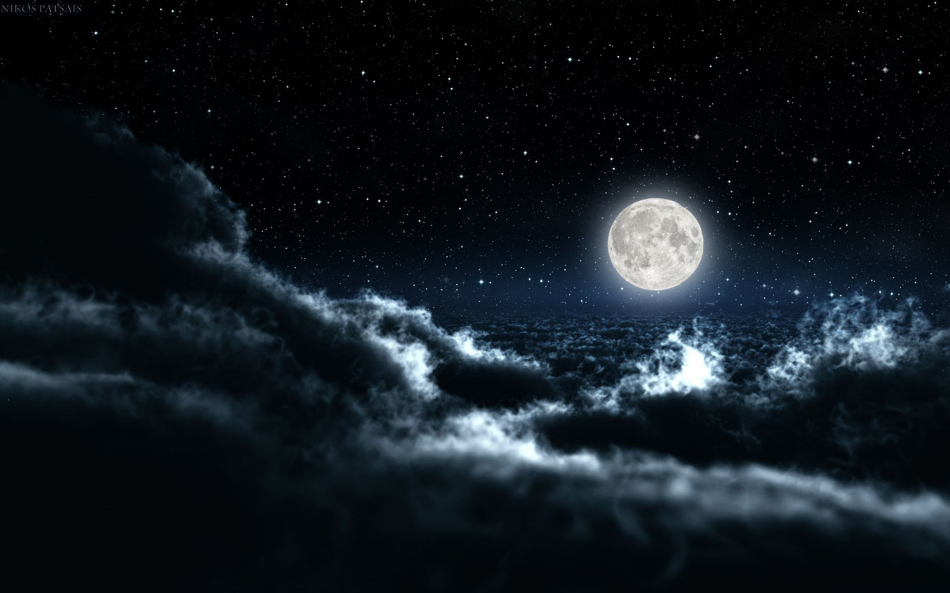 night sky wide desktop background wallpaper free