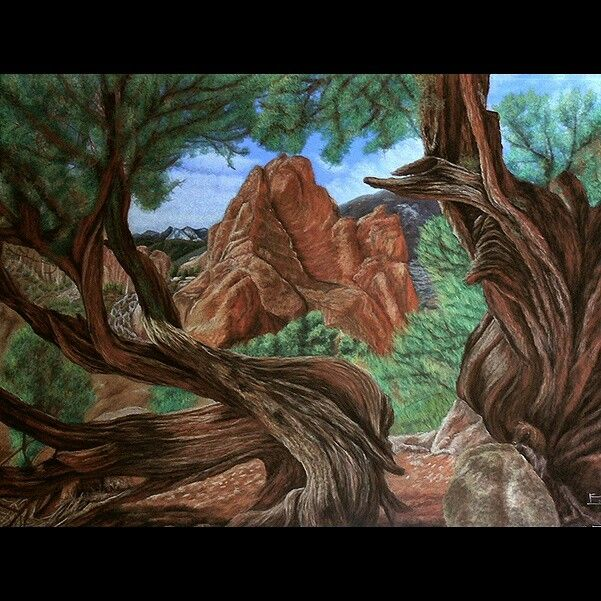 Pastel/Papel. Paisaje de Arizona. #arte #pintura #paisajismo #realismo
